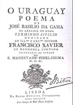 """""""O Uraguai"""" (grafia atual), uma das obras mais famosas do Arcadismo brasileiro."""