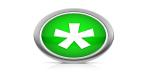 Símbolo do asterisco branco em um fundo verde