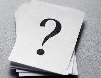 Cartão com ponto de interrogação