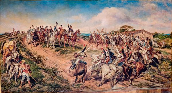 A representação da Proclamação da Independência do Brasil pelo pintor Pedro Américo.