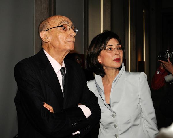 José Saramago e sua esposa, Pilar del Río. [1]