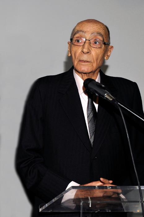 O escritor José Saramago, em 2008. [1]
