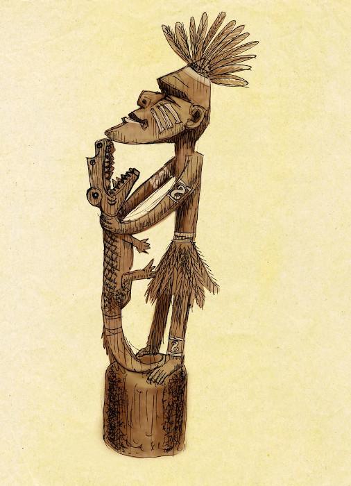 Uma escultura de madeira pode ter, literalmente, uma cara de pau.