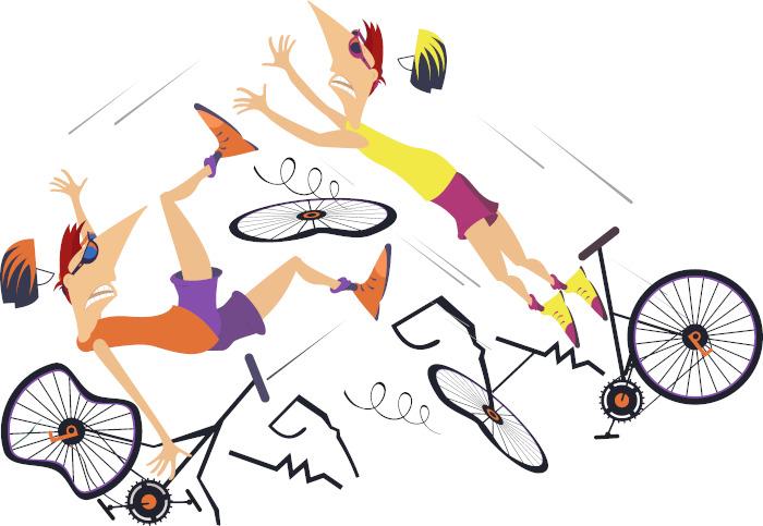 A imprudência é uma das causas de acidentes com ciclistas.