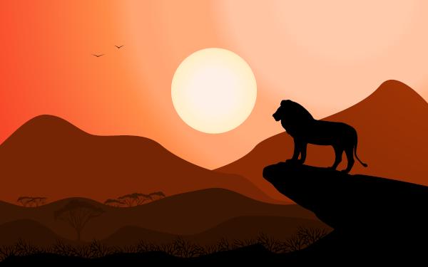 O leão é considerado o rei das selvas.