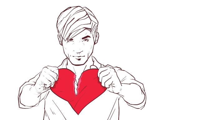 """Uma pessoa """"sem coração"""" não se importa com o sofrimento alheio."""