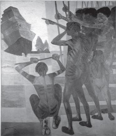 PORTINARI, C. O descobrimento do Brasil. 1956. Óleo sobre tela, 199 x 169 cm. Disponível em: www.portinari.org.br. Acesso em: 12 jun. 2013.