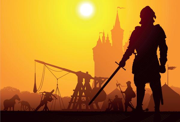 O cavaleiro medieval era um guerreiro de origem nobre.