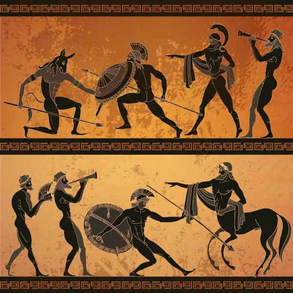 Representação de uma das cenas de luta da epopeia Ilíada, de Homero.