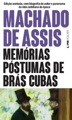 Capa do livro Memórias póstumas de Brás Cubas, de Machado de Assis, publicado pela editora L&PM. [1]