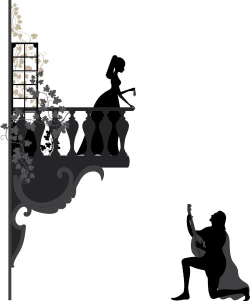 O trovador assumia uma posição de subserviência em relação à dama.