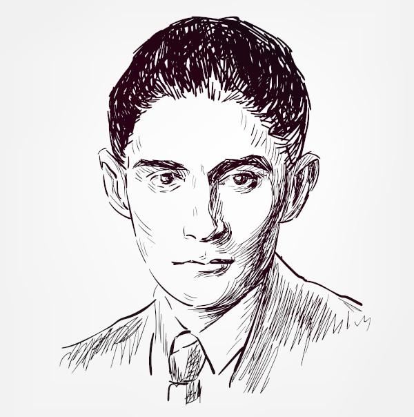 Franz Kafka escreveu obras inquietantes, em que a fragilidade humana é desnudada.[1]