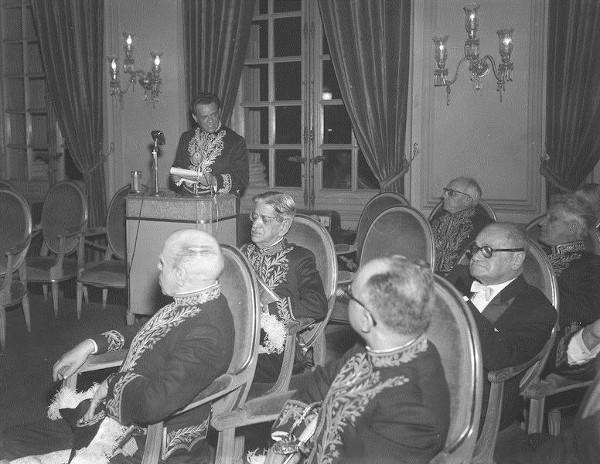 Posse de José Lins do Rego, na Academia Brasileira de Letras, em 1956.