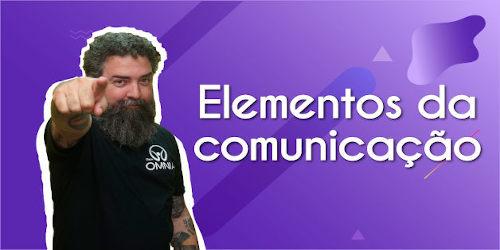 Thumbnail com o professor da videoaula sobre elementos da comunicação