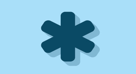 Asterisco azul