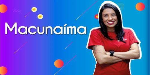 Thumbnail com a professora da videoaula sobre Macunaíma