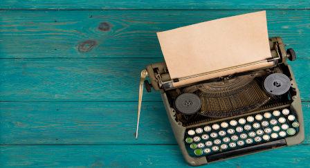 máquina de escrever vintage