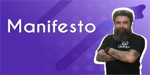 Thumbnail com o professor da videoaula sobre Manifesto