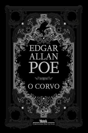 Capa do livro O corvo, de Edgar Allan Poe, publicado pela editora Companhia das Letras.[1]