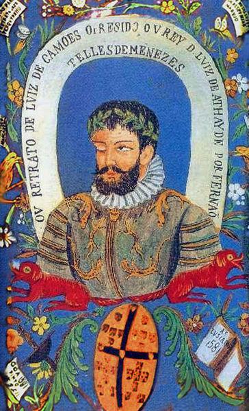 """""""Retrato de Camões"""" (1581), de autor desconhecido."""
