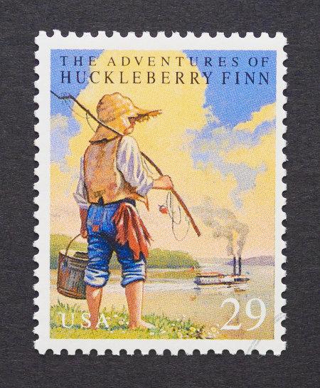 Selo norte-americano em homenagem ao personagem Tom Sawyer.[2]
