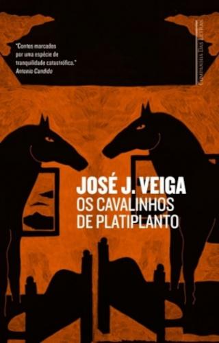 Capa do livro Os cavalinhos de Platiplanto, de José J. Veiga, publicado pela Companhia das Letras.[2]