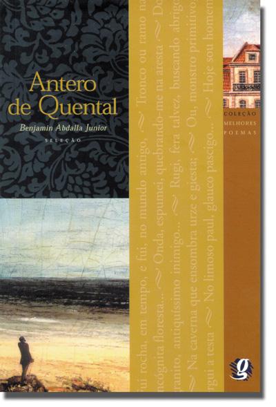 """Capa do livro """"Antero de Quental"""", coleção Melhores Poemas, da Global Editora.[1]"""