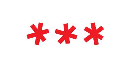 Asteriscos vermelhos