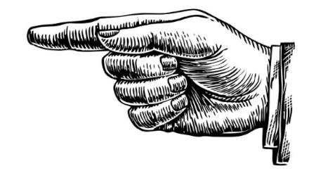 ilustração de dedo apontado