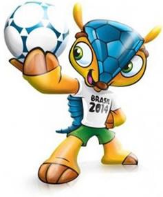 O tatu-bola, nomeado como Fuleco, representa a mascote da próxima Copa do Mundo, a qual irá se realizar no ano de 2014