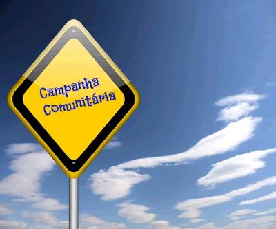 A campanha comunitária pertence aos gêneros de cunho persuasivo
