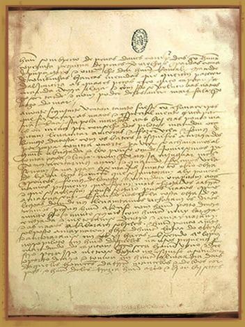 A Carta de Pero Vaz de Caminha oficializou o primeiro escrito pós-descobrimento