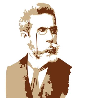 """""""Bruxo do Cosme Velho"""", alcunha criada pelo poeta Carlos Drummond de Andrade, Machado de Assis é considerado o maior gênio da Literatura brasileira"""