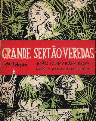 Capa de uma das primeiras edições de Grande Sertão: Veredas, de Guimarães Rosa. Editora José Olympio
