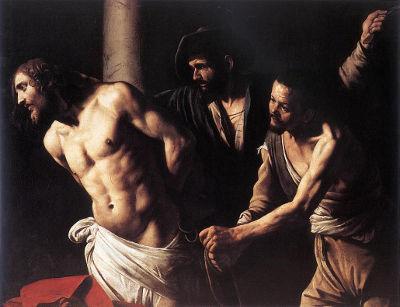 Cristo na coluna, de Caravaggio. Nas artes plásticas, o pintor italiano foi o primeiro grande representante do Barroco