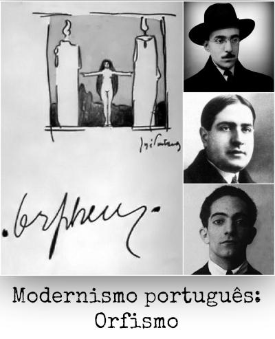 Fernando Pessoa, Mário de Sá-Carneiro e Almada Negreiros estão entre os fundadores do Orfismo, primeira fase do modernismo em Portugal