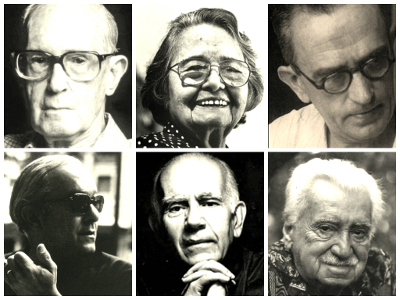 Geração de 1930: Carlos Drummond de Andrade, Rachel de Queiroz, Graciliano Ramos, Vinicius de Moraes, Érico Verissimo e Jorge Amado *