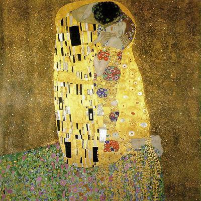 O beijo, obra do pintor austríaco Gustav Klimt. O quadro está exposto na Galeria Belvedere da Áustria