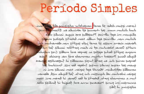 O período simples é um enunciado de sentido completo composto por uma oração absoluta