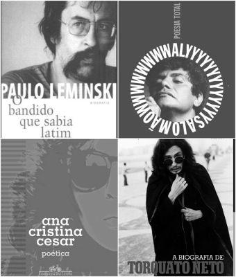 Paulo Leminski, Waly Salomão, Ana Cristina Cesar e Torquato Neto estão entre o principais nomes da Poesia Marginal *